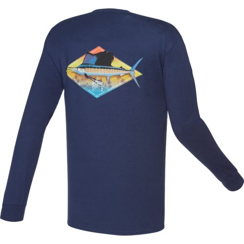 Guy Harvey Men's Downwind Long Sleeve Pocket T-shirt