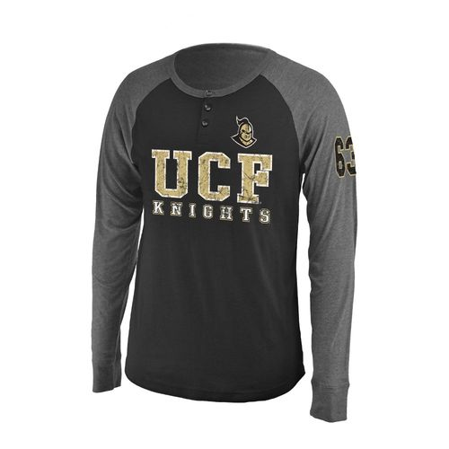 Colosseum Athletics Men's University of Central Florida Spotter Long Sleeve Henley Shirt