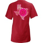 Three Squared Juniors' Texas Tech University Moonface Vee T-shirt - view number 1