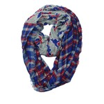 ZooZatz Women's Louisiana Tech University Tartan Infinity Scarf