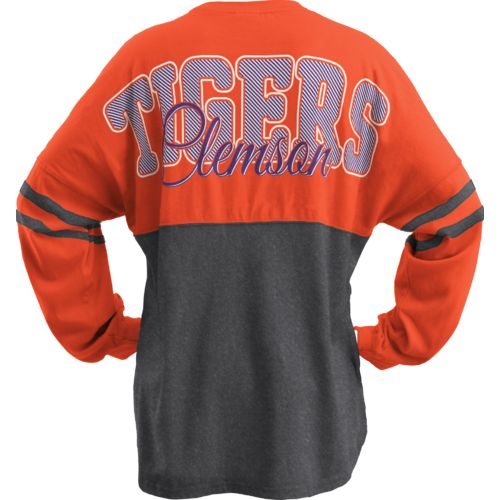 Three Squared Juniors' Clemson University Varsity Script Logo Sweeper T-shirt