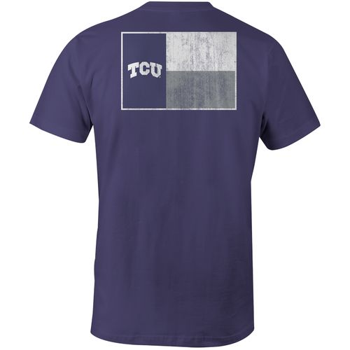 Image One Men's Texas Christian University State Flag Comfort Color T-shirt