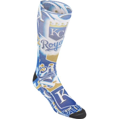 For Bare Feet Men's Kansas City Royals Flashback Sublimated Socks
