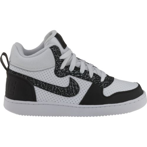 Nike™ Boys' Court Borough Mid Premium (GS) Basketball Shoes