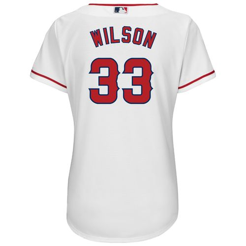 Majestic Women's Los Angeles Angels of Anaheim C.J. Wilson #33 Authentic Cool Base Home Jersey