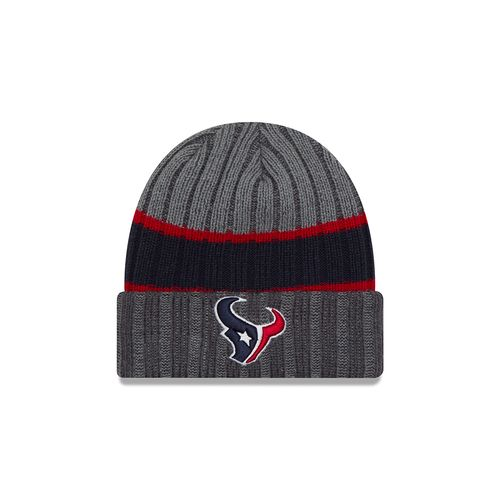New Era Men's Houston Texans Stripe Chiller Knit Cap