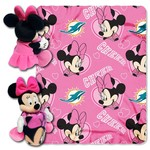 The Northwest Company Miami Dolphins Minnie Mouse Hugger and Fleece Throw Set