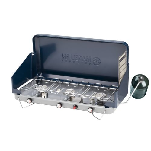 Magellan Outdoors 3-Burner Propane Stove with Toaster Accessory