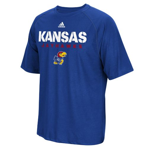 adidas™ Men's University of Kansas Sideline climalite® T-shirt