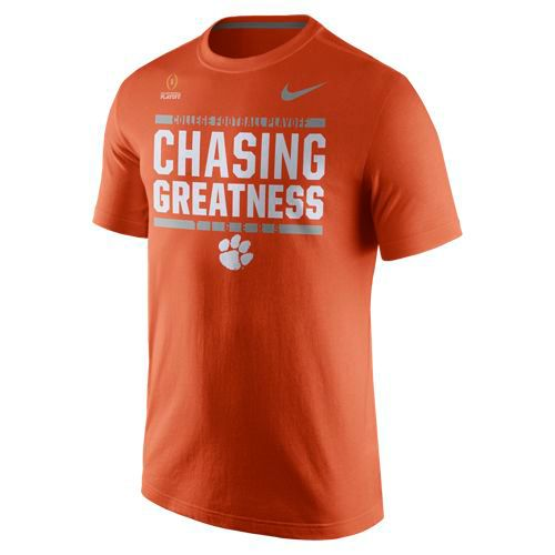 Nike Men's Clemson University 2017 Playoff Bound Chasing Greatness T-shirt