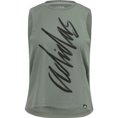 Display product reviews for adidas Women's Script Muscle Tank Top
