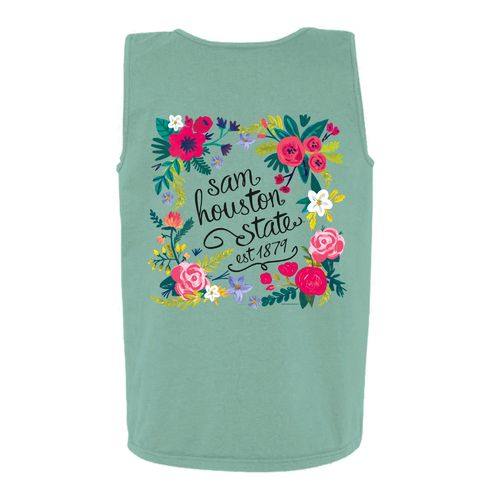 New World Graphics Women's Sam Houston State University Circle Flowers Tank Top - view number 1
