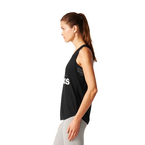 adidas Women's Essentials Linear Logo Loose Tank Top - view number 5