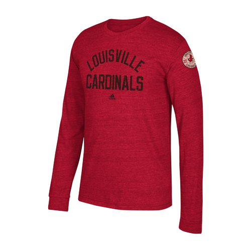 adidas Men's University of Louisville Arched Heritage Long Sleeve T-shirt