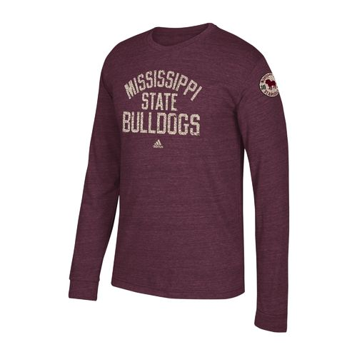 adidas Men's Mississippi State University Arched Heritage Long Sleeve T-shirt