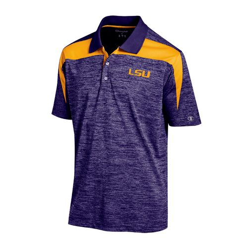 Champion™ Men's Louisiana State University Synthetic Colorblock Polo Shirt - view number 1