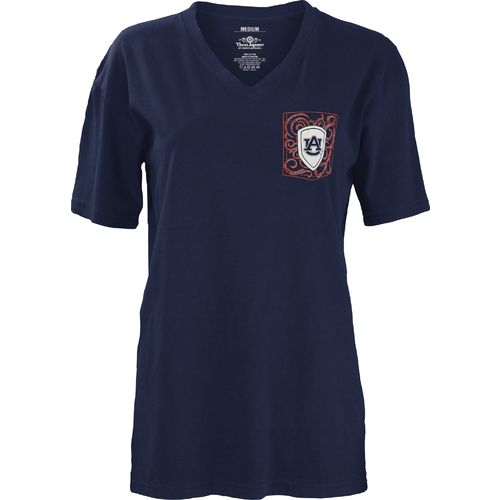 Three Squared Juniors' Auburn University Anchor Flourish V-neck T-shirt - view number 2