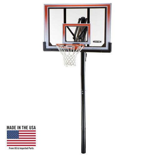 "Display product reviews for Lifetime 50"" Shatterproof Makrolon® Inground Basketball Hoop"