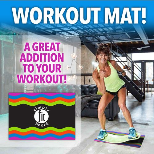 Simply Fit Board 25 In X 18 In Workout Mat Academy