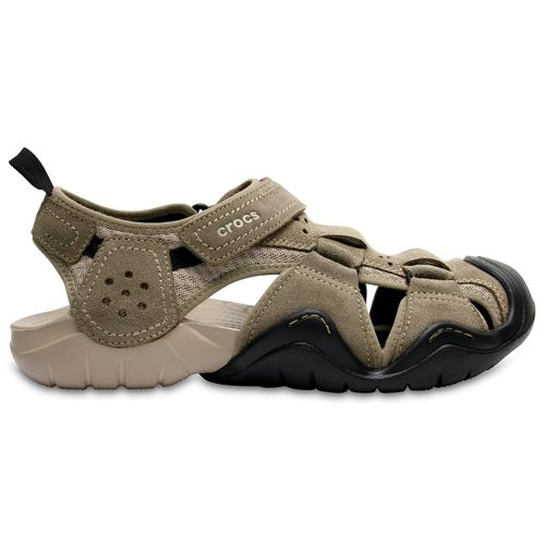 Crocs™ Men's Swiftwater Suede Fisherman Sandals