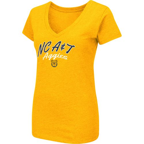 Colosseum Athletics Women's North Carolina A&T State University Team Font Arch T-shirt