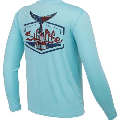 Salt Life Men's American Tail Performance Long Sleeve T-shirt - view number 2