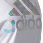 adidas Women's Badge of Sport Iridescent Mesh Muscle Tank Top - view number 7