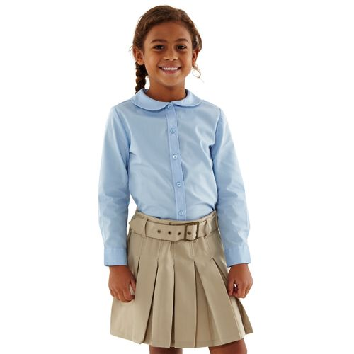 French Toast Toddler Girls' Modern Peter Pan Long Sleeve Uniform Blouse - view number 3