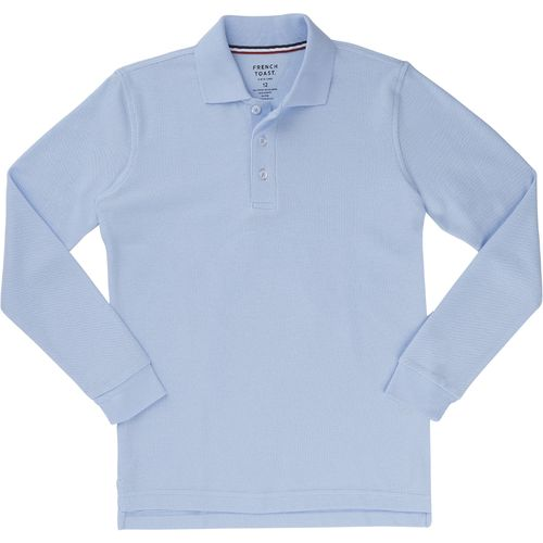 French Toast Toddler Boys' Long Sleeve Pique Polo Shirt - view number 1