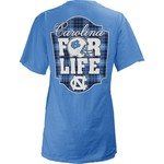 Three Squared Juniors' University of North Carolina Team For Life Short Sleeve V-neck T-shirt - view number 1
