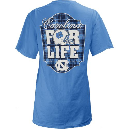 Three Squared Juniors' University of North Carolina Team For Life Short Sleeve V-neck T-shirt