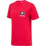 New World Graphics Women's University of Georgia Comfort Color Puff Arch T-shirt - view number 3