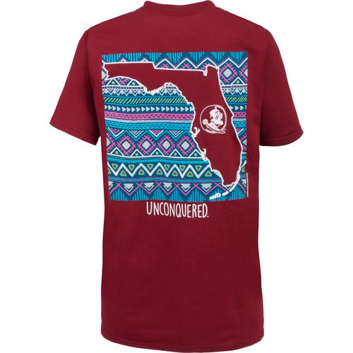 New World Graphics Women's Florida State University Terrain State T-shirt