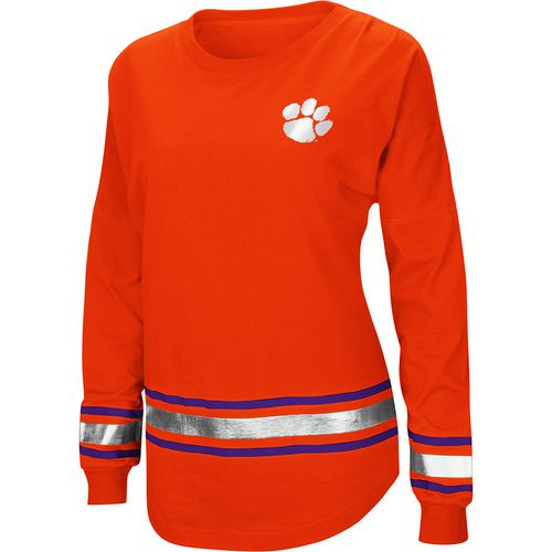 Colosseum Athletics Women's Clemson University Humperdinck Oversize Long Sleeve T-shirt
