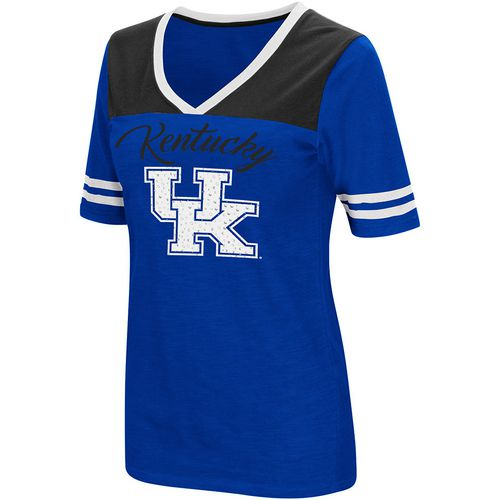 Colosseum Athletics Women's University of Kentucky Twist 2.1 V-Neck T-shirt