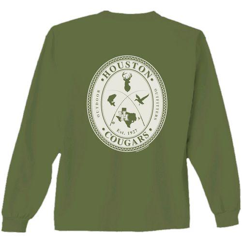 New World Graphics Men's University of Houston Crossed Oval Long Sleeve T-shirt