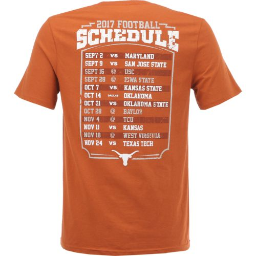 We Are Texas Men's University of Texas Longhorns 2017 Schedule T-shirt