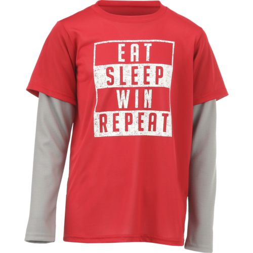 BCG Boys' Eat Sleep Win Repeat Long Sleeve Shirt