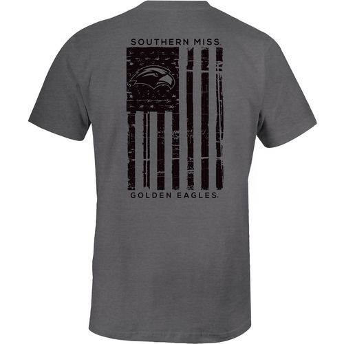 Image One Men's University of Southern Mississippi Distressed Flag T-shirt