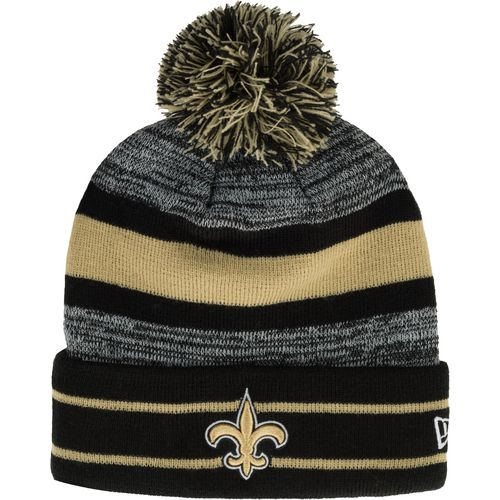 New Era Men's New Orleans Saints Cuffed Knit Cap with Pom