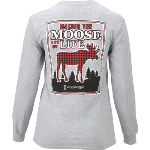 Display product reviews for Love & Pineapples Women's Making the Moose Out of Life Long Sleeve T-shirt
