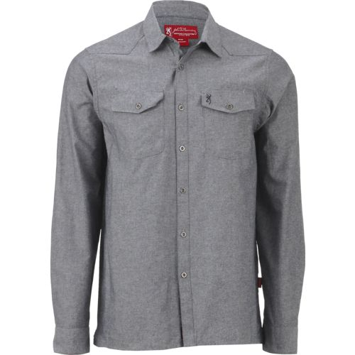 Browning Men's Heritage Pocono Solid Chambray Button-Down Shirt