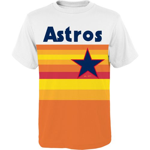 Majestic Boys' Houston Astros Carlos Correa Cooperstown Jersey T-shirt - view number 2
