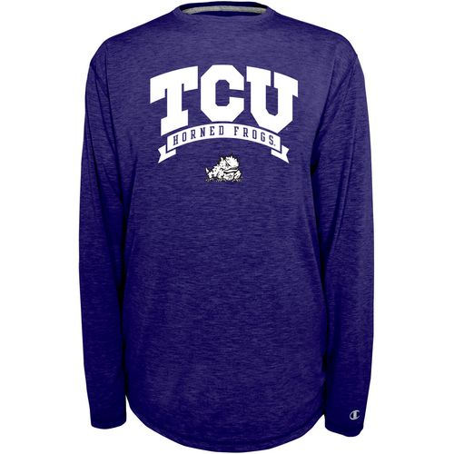 Champion Men's Texas Christian University In Pursuit Long Sleeve T-shirt