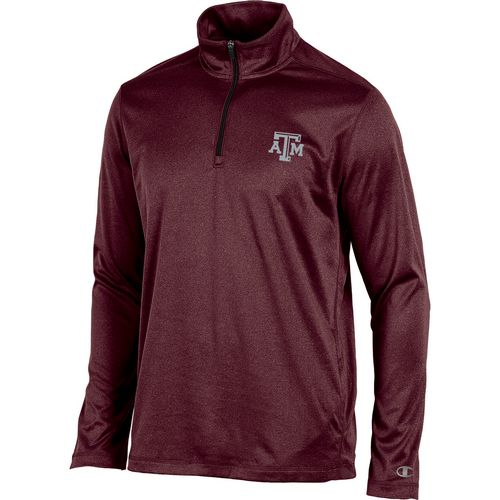 Champion Men's Texas A&M University Victory 1/4 Zip Long Sleeve Pullover