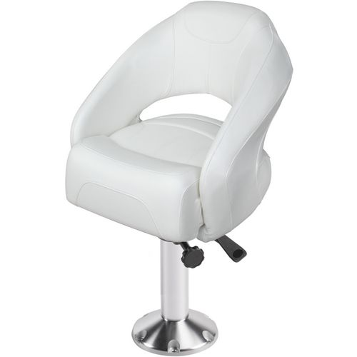 Wise Open Back Bolster Bucket Seat with Fixed Pedestal