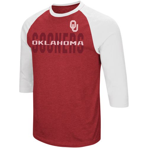 Colosseum Athletics Men's University of Oklahoma Steal Home 3/4 Length Sleeve T-shirt