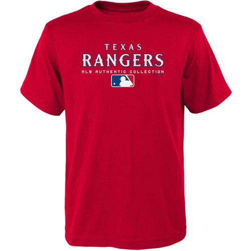 MLB Boys' Texas Rangers Team Drive On-Field Authentic T-shirt
