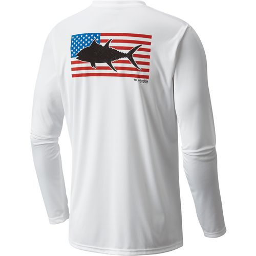 Columbia Sportswear Men's Terminal Tackle Flag Fish Long Sleeve T-shirt
