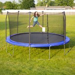 Skywalker Trampolines 15' Round Trampoline with Safety Enclosure - view number 2
